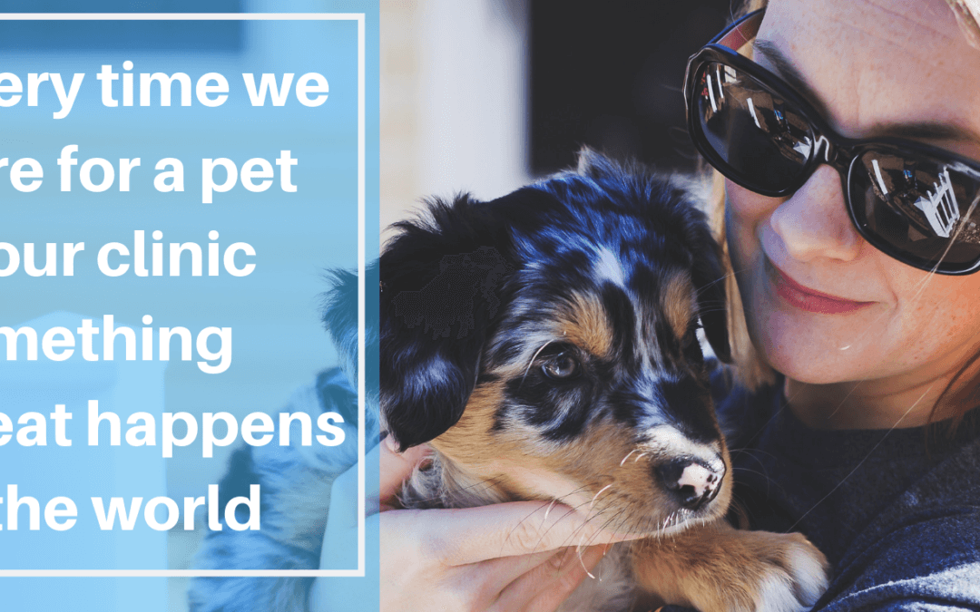 Every Time We Care For A Pet At Our Clinic Something Great Happens In The World!